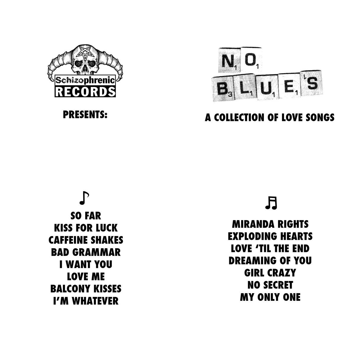 No Blues - A Collection of Love Songs LP