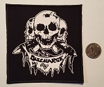 Discharge - 3 skulls patch